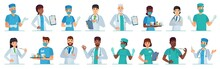 Cartoon Medical Workers. Docto...