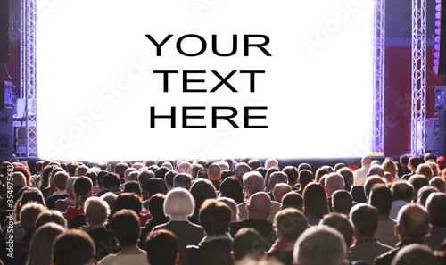 your text customizable in the stage Wallpaper Mural