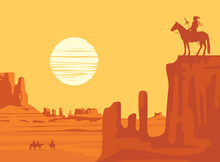 Vector Western Landscape With ...