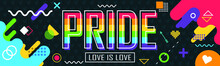 Pride Day Banner With Modern R...