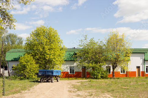 Multicolored household metal steel structure prefabricated modular construction, warehouse, barn or structure Slika na platnu