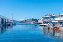 Piers In The Port Of Hobart In...
