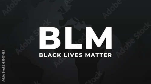Vászonkép BLM Black lives matter modern minimalist banner, design concept, sign, cover with white text on a dark background