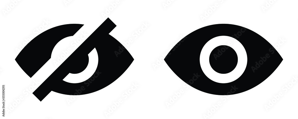 Fototapeta See and unsee eye icon