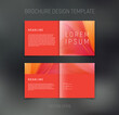 Vector brochure, booklet, presentation design template with red abstract background