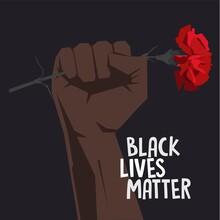 Black Lives Matter. Human. Vec...