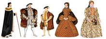 Tudor Dynasty - Crowned Kings & Queens Of Tudor England -Henry VII, Henry VIII, Edward VI, Mary I, Elizabeth I