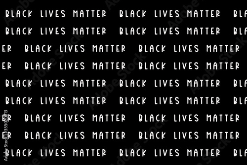 Black Lives Matter white slogan pattern, social poster on black background Canvas-taulu