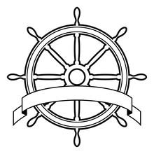 Vector Illustration Of A Ship'...