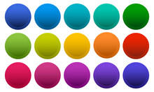 Colorful Round Buttons Isolate...
