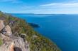Cliffs of Fluted Cape at Bruny island in Tasmania, Australia