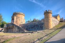 Guard Tower At Port Arthur Historic Site In Tasmania, Australia