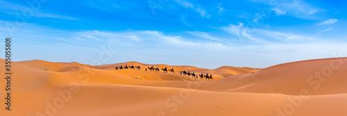 Merzouga in the Sahara Desert in Morocco Fotobehang