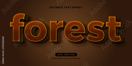 Valokuva Forest Brown editable text effect vector