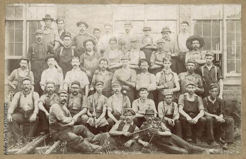Fotografia Antique Railroad Workers Pennsylvania 1880 Photo