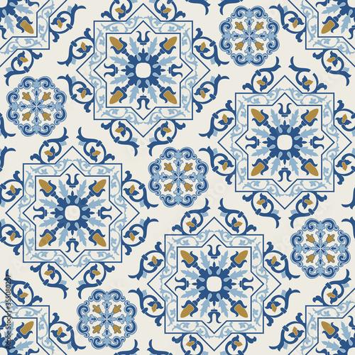 Fotomural Seamless Damask pattern