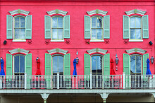 Balcony And Facade Of An Old B...