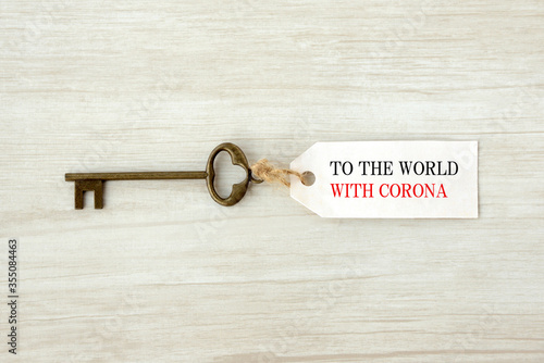 Obraz ウィズコロナの世界への鍵 - fototapety do salonu