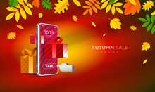 Autumn Sale Shopping. Mobile D...
