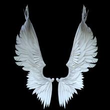3D Rendered White Fantasy Ange...
