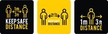 Social Distance Signage Icon V...