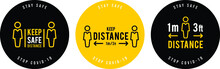 Social Distance Signage Icon V...