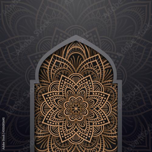 abstract, adhan, arabesque, arabian, arabic, art, background, beautiful, candle, Canvas Print