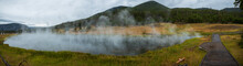 Panorama Of Steaming Lake In Y...