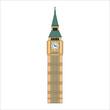 london big ben tower in england illustration for web and mobile design.