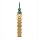 Fototapeta Big Ben - london big ben tower in england illustration for web and mobile design.