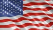 American flag waving in the wind. Realistic flag background. looped animation background.