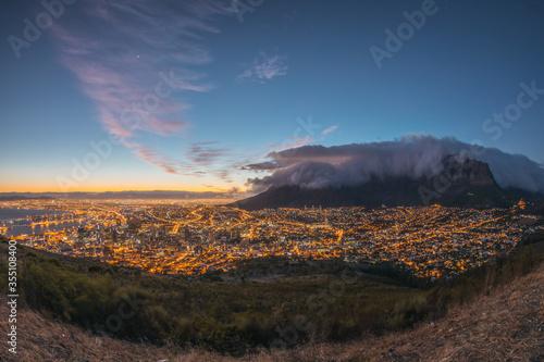 Fényképezés Sunrise in Cape town - capital of South Africa