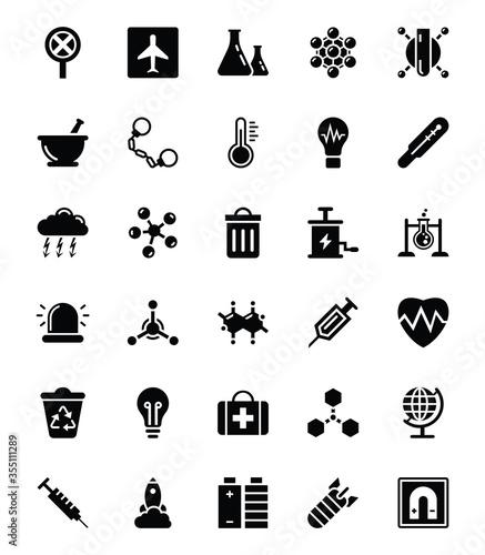 Papel de parede Biohazard Glyph Vector Icons