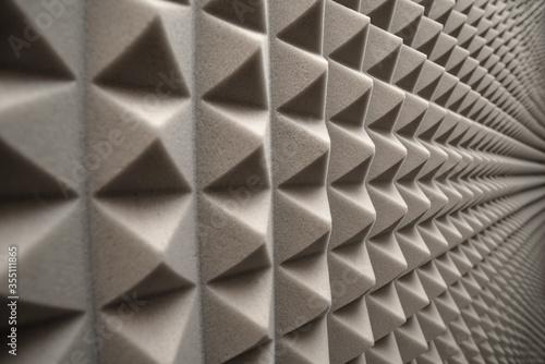 Obraz na plátne soundproof sponge in the sound recording studio