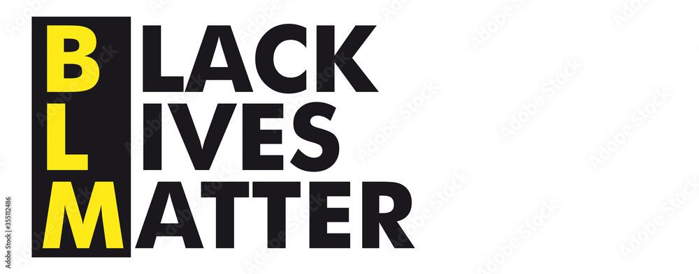 Fototapeta BLM Black Lives Matter Header