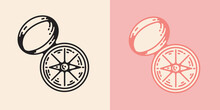 Compass Vector Illustration In...