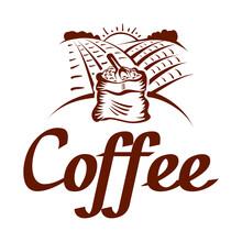 Coffee Grain Logo - Vector Ill...