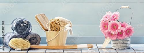 Obraz Wohlbefinden und Relaxen - fototapety do salonu