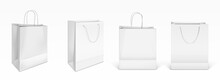White Paper Shopping Bags Fron...