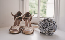Wedding Shoes With Flowers In ...