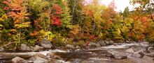 River Near Conway, New Hampshire, United States. In The Fall