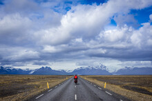 So Called Ring Road With Skaftafell National Park On Background In Oraefasveit Region, Iceland
