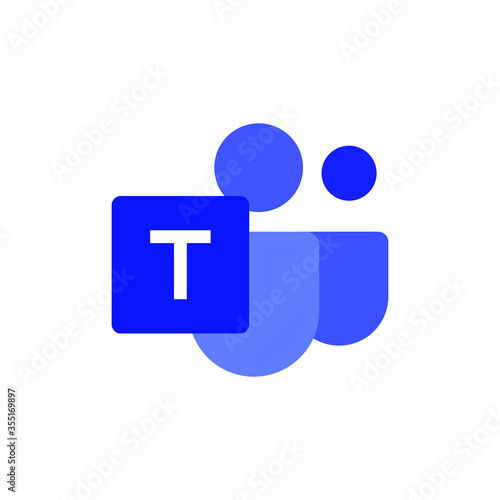 Photo Microsoft Teams logo,remote working application symbol,Microsoft Teams icon