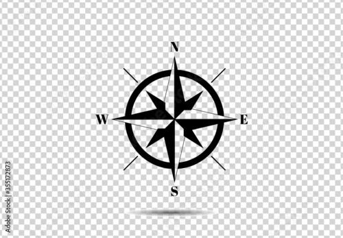 Obraz compass icon - fototapety do salonu