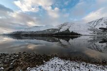 Loch Lochy Winter Snow Reflection