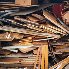 A Pile Of Broken Wooden Boards...