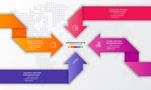 4 Steps Arrow Infographic Elem...