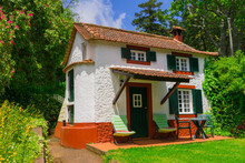Traditional Tiny Madeira House In Monte, Madeira, Portugal