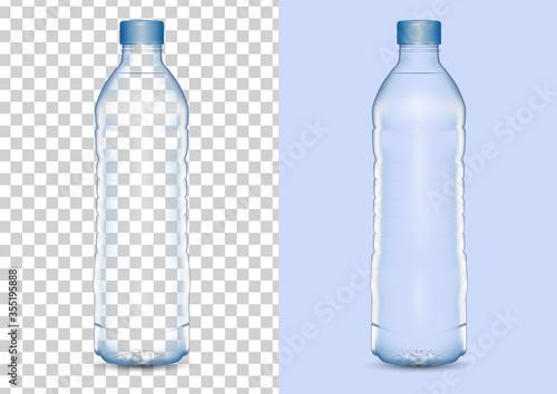 Tela Realistic drinking water bottle vector illustration