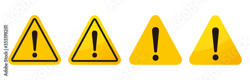 Fotografia warning sign icon vector triangle